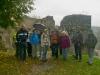 Pfalzwanderung am 14.10.2012 - Die Wandergruppe auf der Burgruine Frankenstein