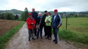 Die TVL-Frühjahrswanderer im verregneten Odenwald