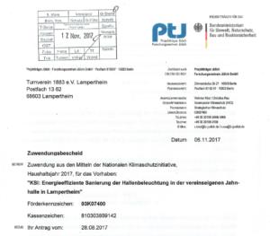PTJ-Zuwendungsbescheid