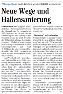 Pressebericht Südhessen Morgen vom 20.03.2018