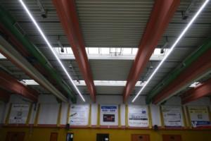 Test der LED-Lichtbänder am 28.03.2018