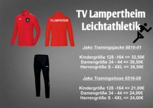 Neue Trainingsanzüge für die Leichtathleten