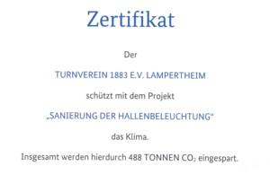 Zertifikat der Nationalen Klimaschutzinitiative