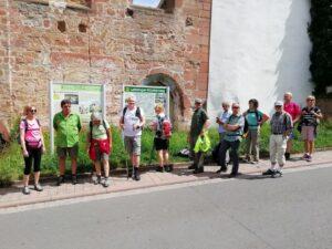 TVL-Wandergruppe vor der Klosterruine Höningen